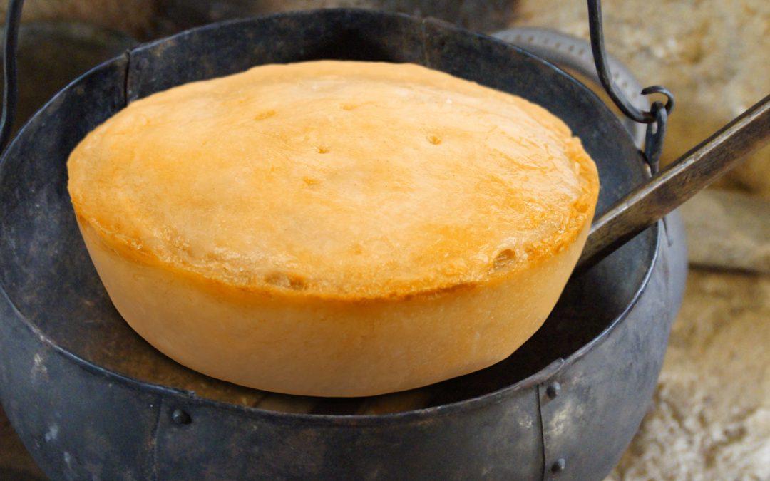 cornbread on the hearth