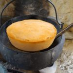 cornbread on the hearth
