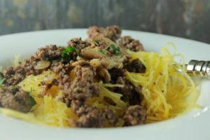 lamb and spaghetti squash
