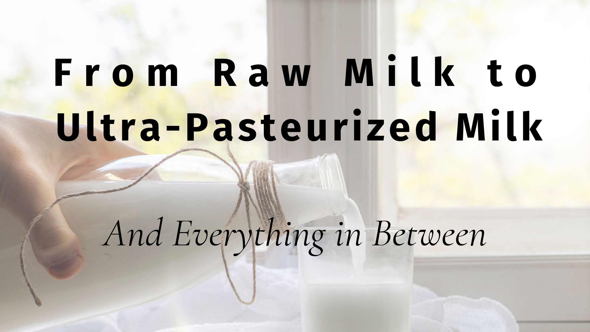 From Raw Milk to Ultra-Pasteurized Milk