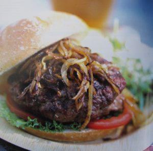 chevon burger